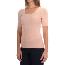 U-Neck Sweater - Short Sleeve (For Women) in Beige - 2nds