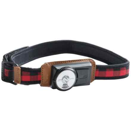 UCO A-45 Comfort Fit Headlamp - 11 Lumens in Buffalo Plaid - Closeouts