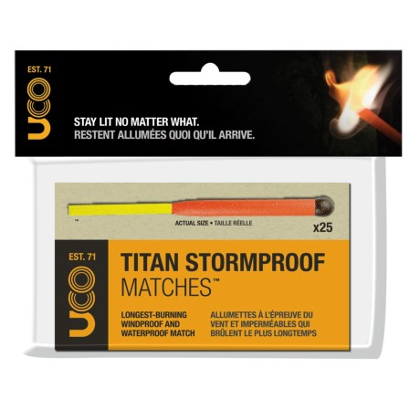 UCO Gear UCO Titan Stormproof Matches in See Photo