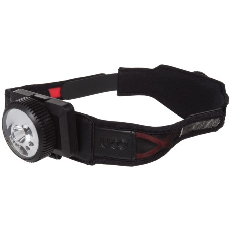 UCO Gear X-120R Rechargeable X-Act Fit Headlamp - 120 Lumens in Black