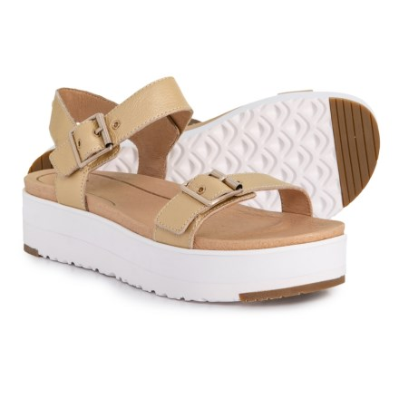 9f1a5f6e27aa UGG® Australia Angie Metallic Strap Sandals - Leather (For Women) in Gold