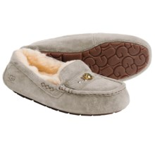 UGG® Australia Ansley Chunky Crystals Slippers - Suede (For Women) in Ash - Closeouts