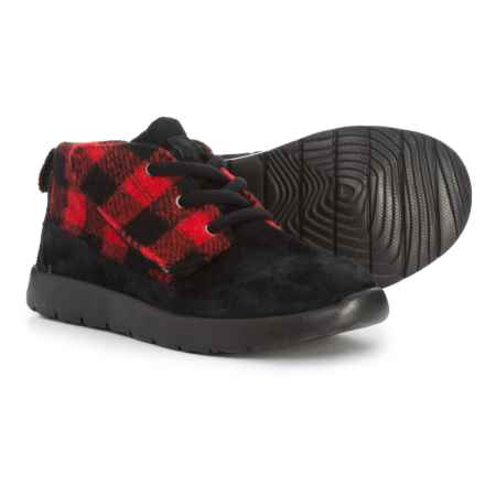 UGG® Australia Canoe Plaid Chukka Boots (For Toddler Boys) in Redwood - Closeouts