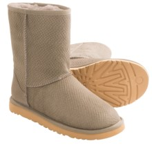 UGG® Australia Classic Short Calf Hair Scales Boots (For Women) in Oyster - Closeouts