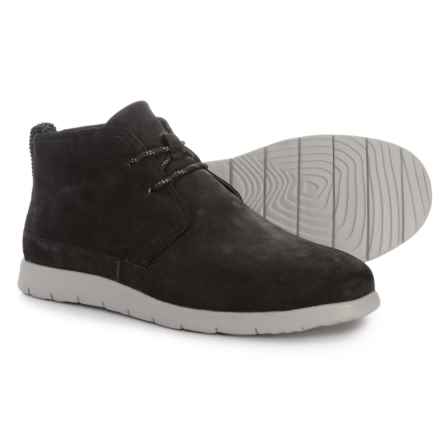 UGG® Australia Freamon Capra Chukka Boots - Goat Leather (For Men) in Black - Closeouts
