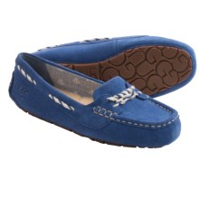UGG® Australia Genoa Moccasin Slippers - Suede (For Women) in Marine Blue - Closeouts