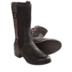 UGG® Australia Jaspan Boots - Leather (For Women) in Black