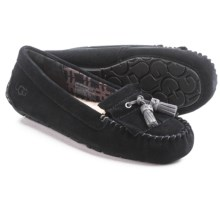 UGG® Australia Lizzy Slippers - Suede (For Women) in Black - Closeouts
