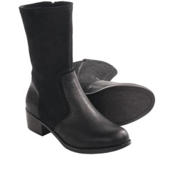 UGG® Australia Lou Boots - Leather (For Women) in Black