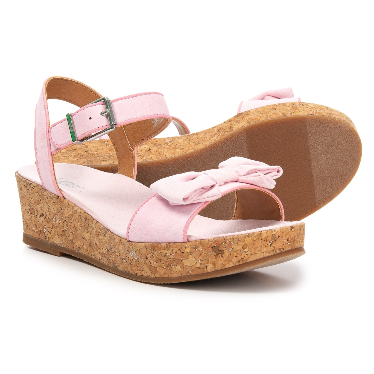 76221981917 UGG® Australia Milley Bow Wedge Sandals (For Girls)