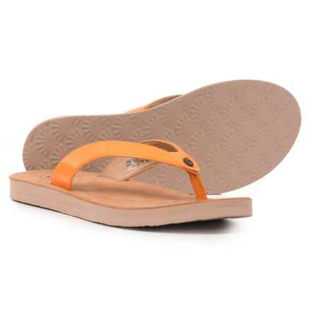 UGG® Australia Tawney Sandals - Leather (For Women) in Orange Zinnia