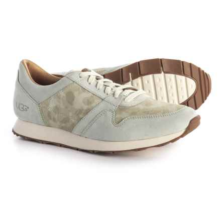 UGG® Australia Trigo Camo Sneakers - Suede (For Men) in Cement - Closeouts