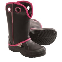 Ugly Kracomukers Multicolor Rain Boots - Waterproof (For Big Girls) in Blk Black/Pink - Closeouts