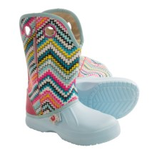 Ugly Kracomukers Multicolor Rain Boots - Waterproof (For Little Girls) in Blu Blue/Multi Chevron - Closeouts