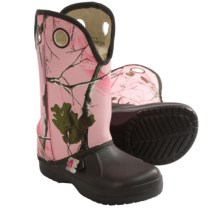 Ugly Kracomukers RealTree® Camo Boots (For Big Kids) in Pin Brown/Pink Real Tree - Closeouts