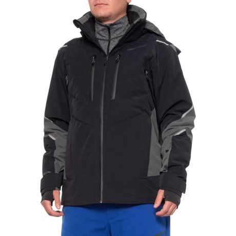 Ultimate Down Hybrid Ski Jacket - Waterproof, Insulated (For Men) - BLACK (L )