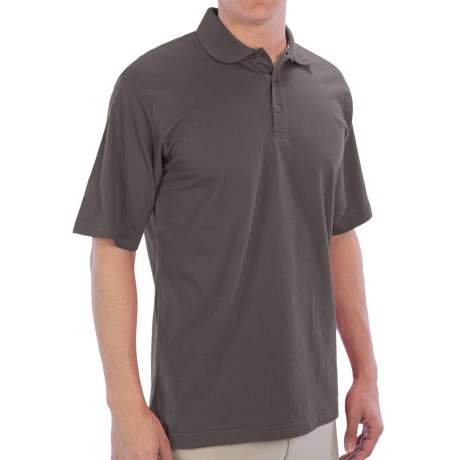 UltraClub Egyptian Breeze Polo Shirt - Short Sleeve (For Men) in Stone