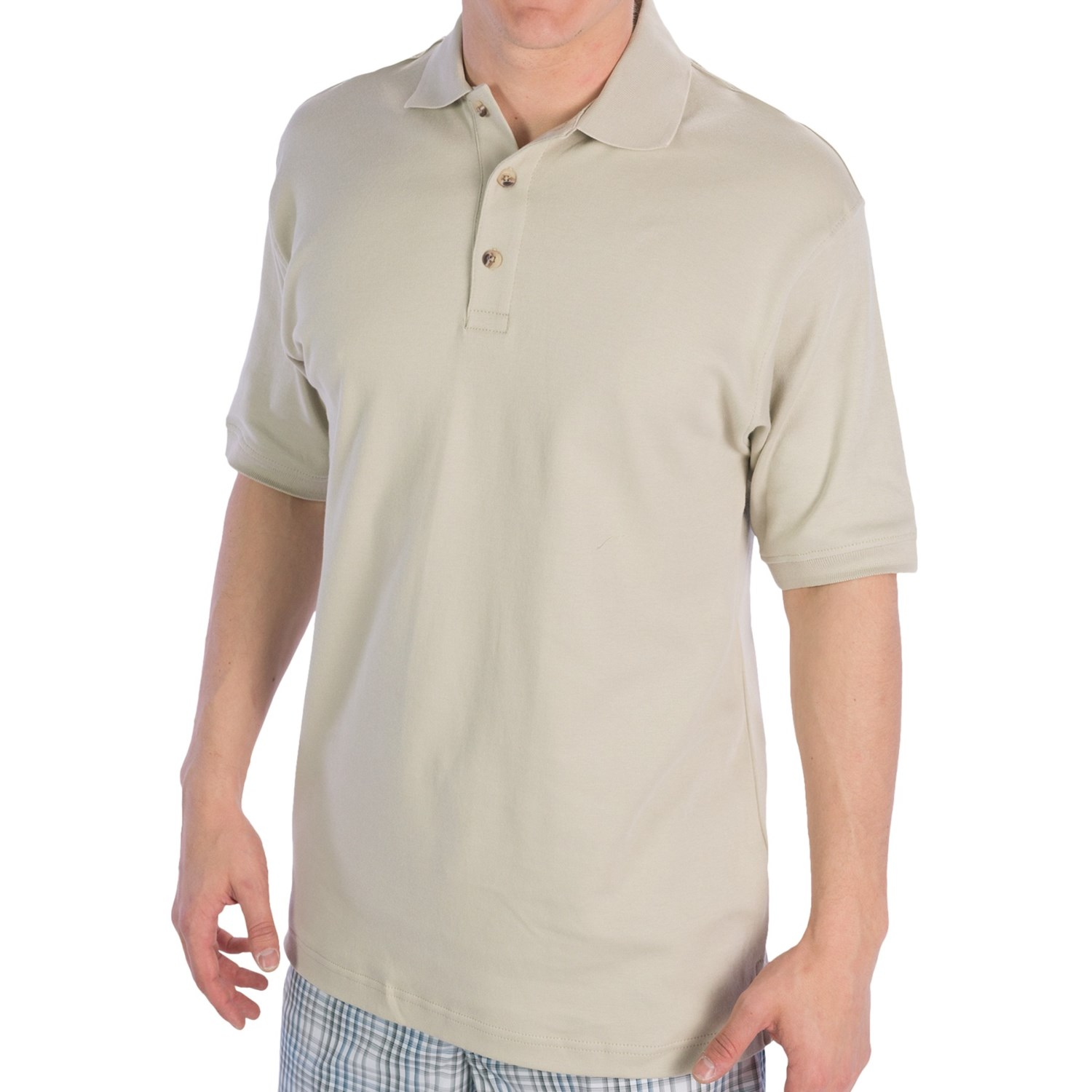 ultraclub egyptian cotton interlock polo shirt short