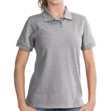 UltraClub High-Performance Elite Polo Shirt - Pique Cotton Blend, Short Sleeve (For Women) in Heather - Closeouts