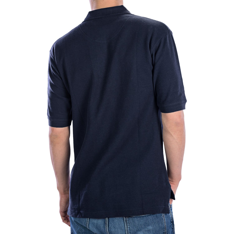 Ultraclub Luxury Double Pique Cotton Polo Shirt For Men