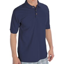 UltraClub Luxury Double Pique Polo Shirt - Short Sleeve (For Men) in True Navy - Closeouts