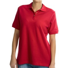 UltraClub Luxury Polo Shirt - Double Pique Cotton, Short sleeve (For Women) in Red - Closeouts