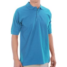 UltraClub Polo Shirt - Pima Cotton, Short Sleeve (For Men) in Azure - Closeouts