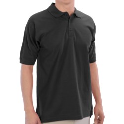 UltraClub Polo Shirt - Pima Cotton, Short Sleeve (For Men) in Black
