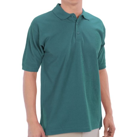 UltraClub Polo Shirt - Pima Cotton, Short Sleeve (For Men) in Deep Teal