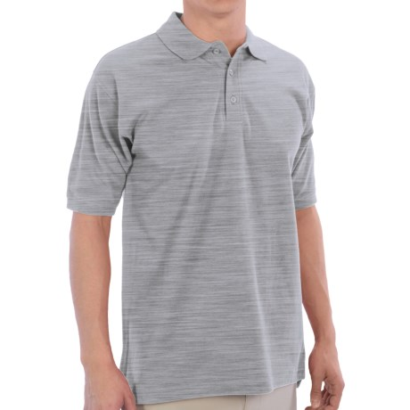 UltraClub Polo Shirt - Pima Cotton, Short Sleeve (For Men) in Heather Grey