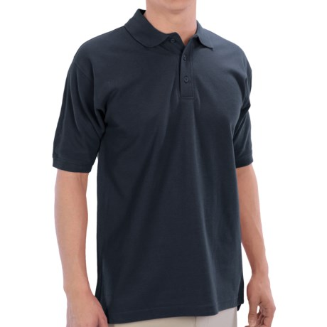 UltraClub Polo Shirt - Pima Cotton, Short Sleeve (For Men) in Navy