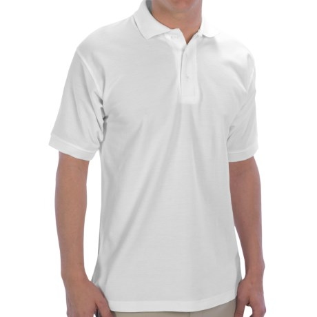 UltraClub Polo Shirt - Pima Cotton, Short Sleeve (For Men) in White