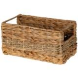 """UMA Braided Rectangle Seagrass Storage Basket - 4.75x9x5"""""""