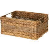 UMA Braided Rectangle Seagrass Storage Basket - 5.5x12x7.5""