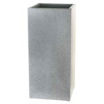 "UMA Cement Tall Liner Planter - 12x27"" in Dark Grey - Closeouts"