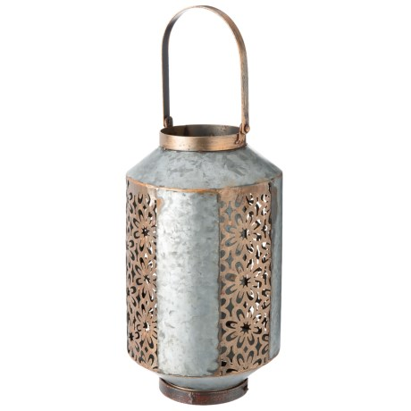 UMA Decorative Metal Outdoor Lantern in Silver