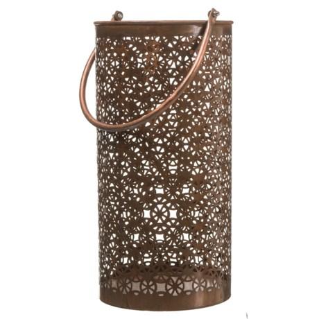 UMA Disk Metal Candle Lantern in Brown