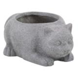 """UMA Fiber Clay Cat Planter - 15x7"""""""