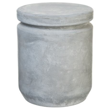 "UMA Fiber Clay Foot Stool - 15x18"" in Light Grey"