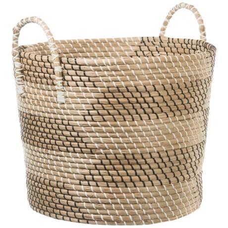 Image of UMA Large Seagrass Print Basket with Handles - 19?