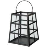 UMA Metal and Glass Trapezoid Lantern