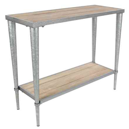 """UMA Metal and Wood Console Table - 39x32"""" in Natural/Silver - Closeouts"""