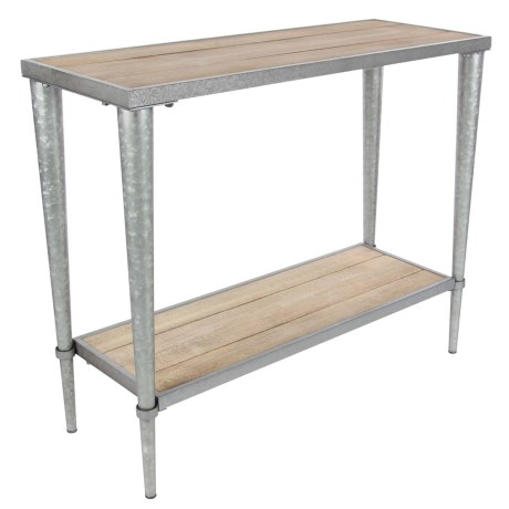 """UMA Metal and Wood Console Table - 39x32"""" in Natural/Silver"""