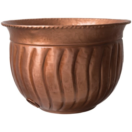 "UMA Metal Bowl Hose Holder - 19x12"" in Copper"