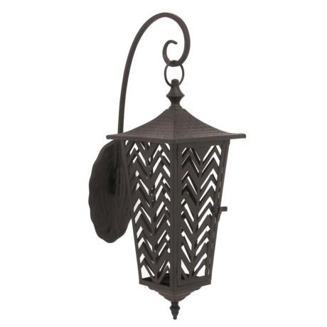 UMA Metal Candle Wall-Mounted Lantern in Black