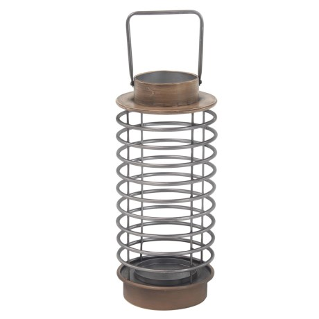 "UMA Metal Decorative Lantern - 7x16"" in Natural"