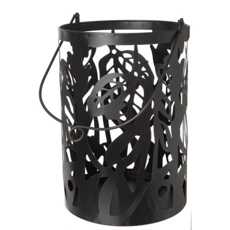 UMA Metal Pillar Lantern in Black