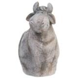 "UMA Polystone Cow Statue - 13x14"""