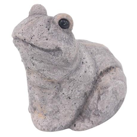 """UMA Polystone Frog Statue - 11"""" in Grey"""