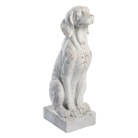 "UMA Polystone Sitting Dog Statue - 29"" in Grey"